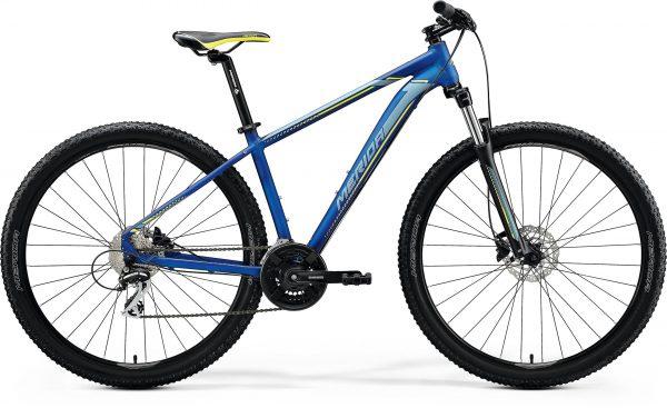 Велосипед 29″ Merida BIG.NINE 20-D Silk Medium Blue (Silver/Yellow) 2020
