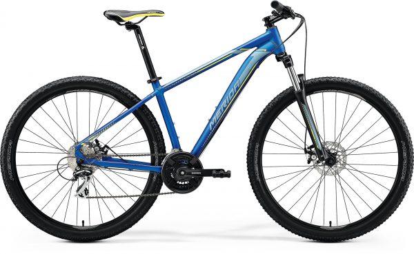 Велосипед 29″ Merida BIG.NINE 20-MD Silk Medium Blue (Silver/Yellow) 2020