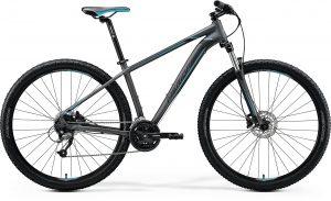Велосипед 29″ Merida BIG.NINE 40 Matt Dark Silver (Blue/Blk) 2020