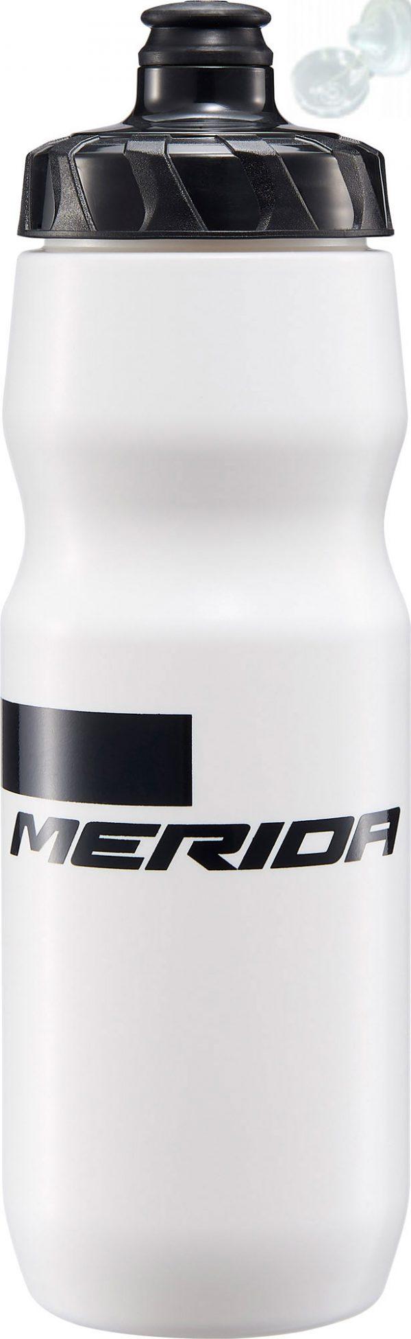 Фляга Merida Bottle/Stripe White, Black 715 мл с крышкой