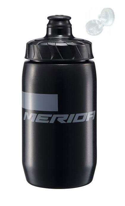 Фляга Merida Bottle/Stripe Black, Grey 500 мл с крышкой