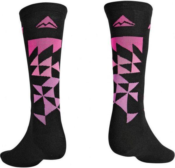 Велоноски Merida Socks Long Black, Pink, Purple