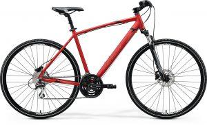 Велосипед 28″ Merida CROSSWAY 20-D Matt X'mas Red (Black/Dark Red) 2020