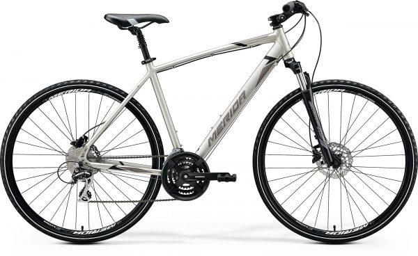 Велосипед 28″ Merida CROSSWAY 20-D Silk Titan (Black/Grey) 2020