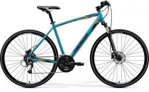 Велосипед 28″ Merida CROSSWAY 40 Glossy Teal (Black/Orange) 2020