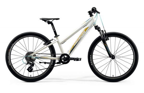 Велосипед 24″ Merida MATTS J.24 Glossy White (TealL/Gold) 2020