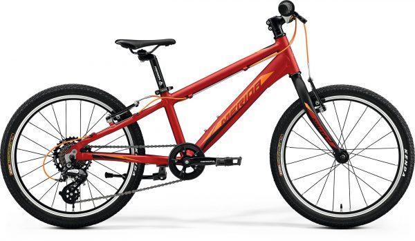 Велосипед 20″ Merida MATTS J.20 RACE Silk X'mas Red (Orange/Black) 2020