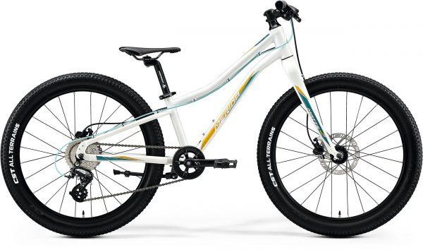 Велосипед 24″ Merida MATTS J.24+ Glossy White (TealL/Gold) 2020