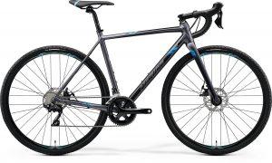 Велосипед 28″ Merida MISSION CX 400 Matt Silver (Blue) 2020