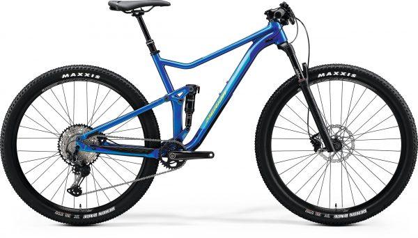 Велосипед 29″ Merida ONE-TWENTY RC 9.XT-Edition Glossy Medium Blue (Lime Green) 2020