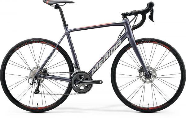 Велосипед 28″ Merida SCULTURA DISC 300 Silk Anthracite (Race Red) 2020