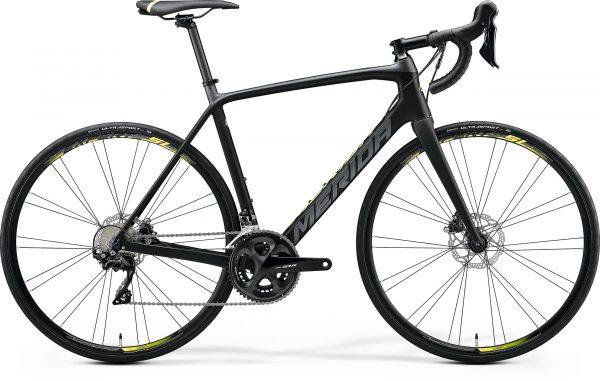 Велосипед 28″ Merida SCULTURA DISC 4000 Matt Black/Grey (Neon Yellow) 2020