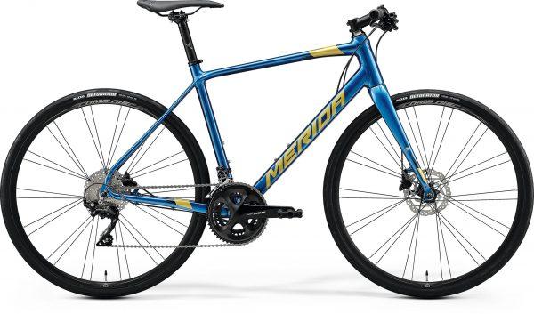 Велосипед 28″ Merida SPEEDER 400 Silk Ocean Blue (Gold/Black) 2020