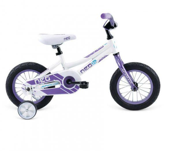 Велосипед 12″ Apollo Neo girls Gloss White / Gloss Lavender 2021