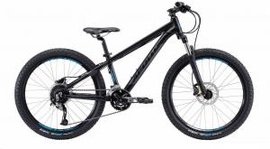 Велосипед 24″ Apollo ASPIRE 24 matte Black / matte Charcoal / matte Blue 2019