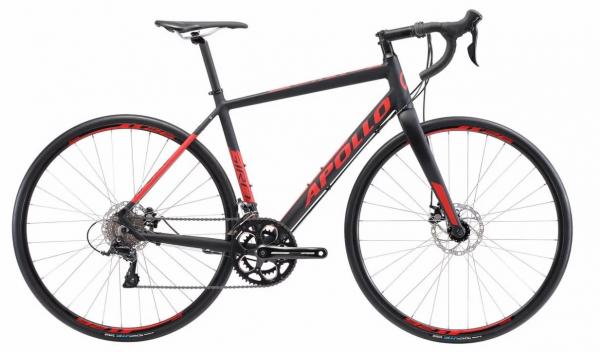 Велосипед 28″ Apollo GIRO 20 matte black/red 2019