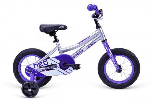 Велосипед 12″ Apollo Neo girls Violet/White 2021