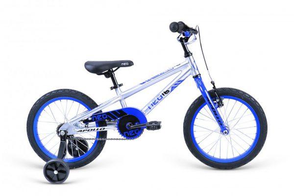 Велосипед 16″ Apollo Neo boys Blue-Black 2021