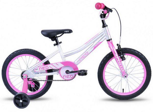 Велосипед 16″ Apollo Neo girls White/Pink