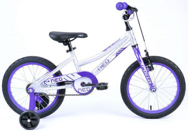 Велосипед 16″ Apollo Neo girls White/Violet