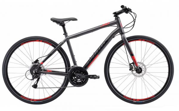 Велосипед 28″ Apollo TRACE 30 matte Charcoal/matte Black/matte Red 2019