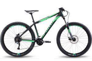 Велосипед 27,5″ Apollo TRAIL 10 Matte Black / Matte Fluoro Green 2019