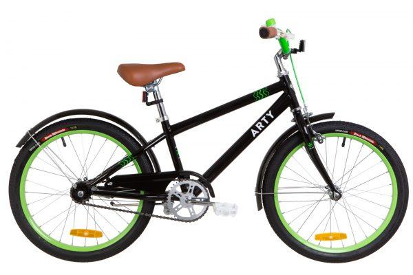 Велосипед 20″ Dorozhnik ARTY 14G St с крылом St Black-green