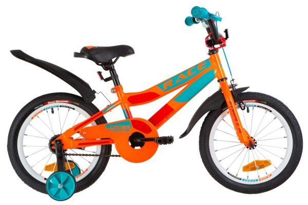 Велосипед 16″ Formula Race MC усилен. St с крылом Pl Orange-biryuzovyy