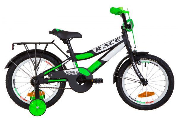 Велосипед 16″ Formula Race MC усилен. St с багажником зад St, с крылом St Black-green