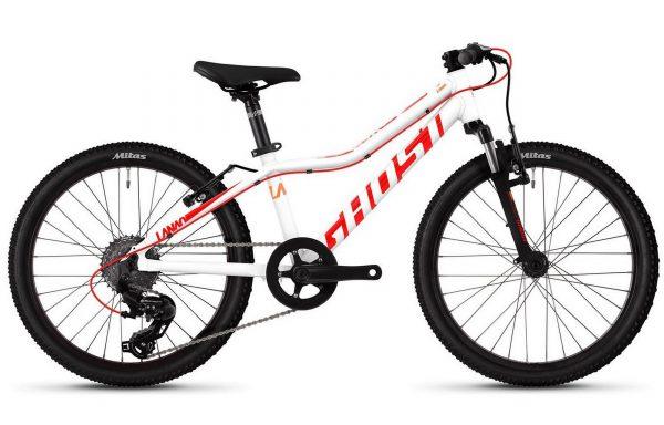 Велосипед 20″ Ghost Lanao 2.0 AL W White-red-orange