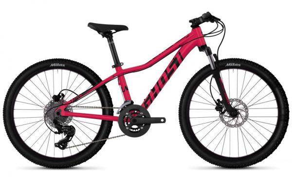 Велосипед 24″ Ghost Lanao D4.4 Raspberry-black