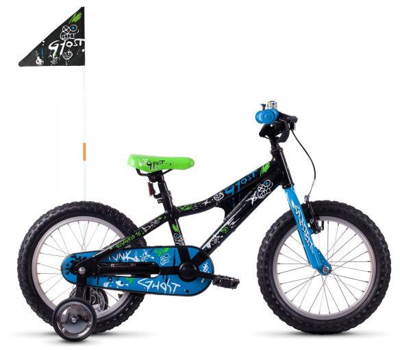 Велосипед 16″ Ghost Powerkid Blue-black