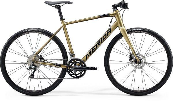 Велосипед 28″ Merida SPEEDER 300 Shiny gold (black)