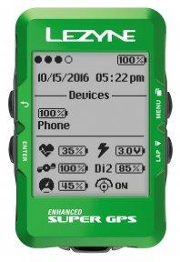 Велокомпьютер Lezyne Super GPS Limited Green Edition
