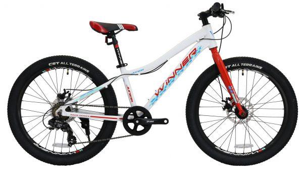Велосипед 24″ Winner Junior White-red