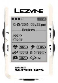 Велокомпьютер Lezyne Super GPS Limited White Edition