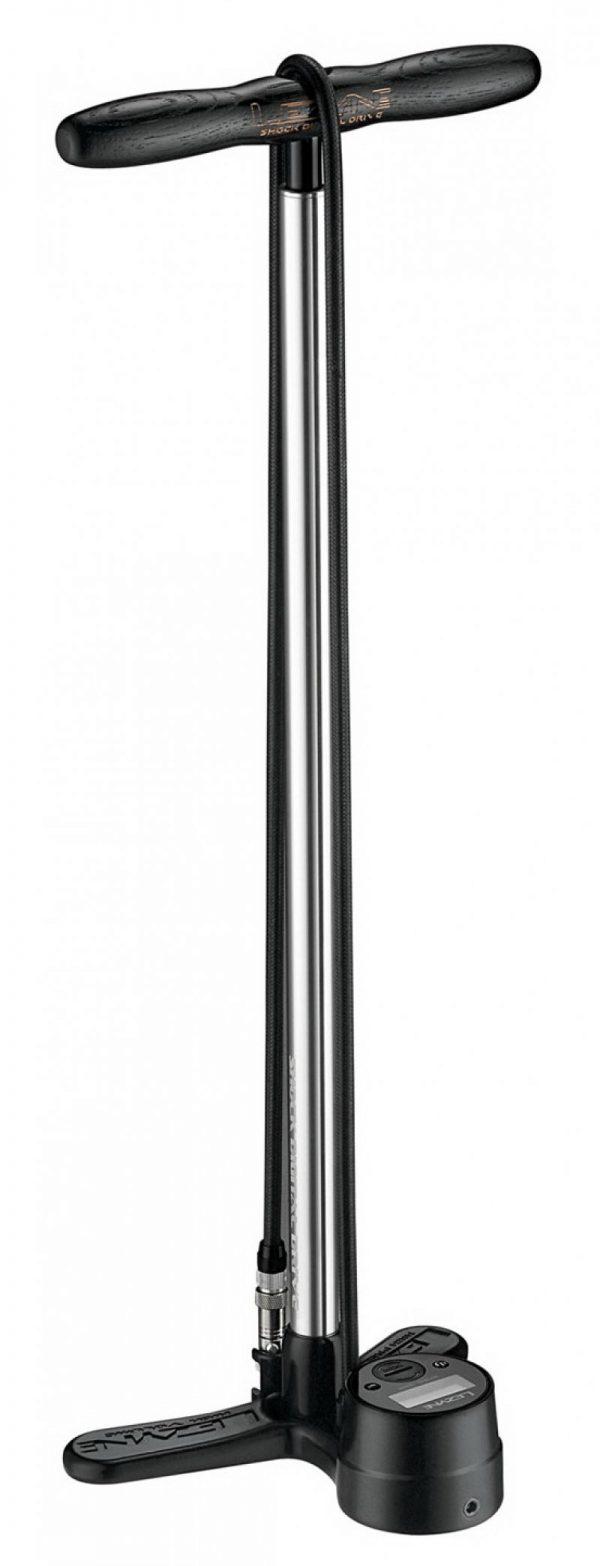 Насос напольный для подвески Lezyne SHOCK DIGITAL DRIVE, 300psi (24.1 bar), серебристый