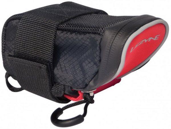 Сумка подседельная Lezyne Micro Caddy S 0.2L 140x55x55mm (80g) black-red