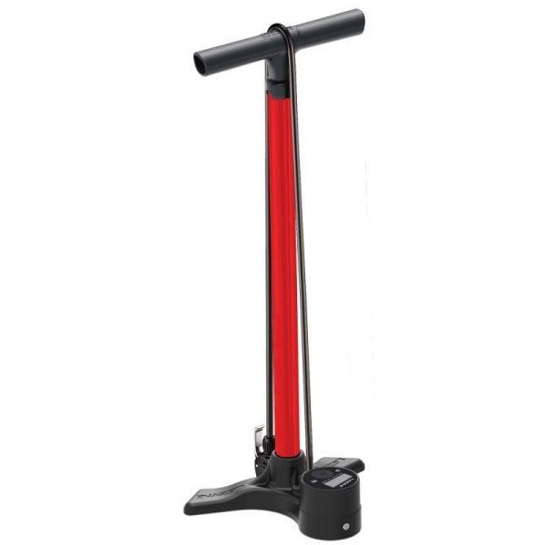 Насос напольный Lezyne Macro Floor Drive Digital DV, 220psi (15 bar), красный