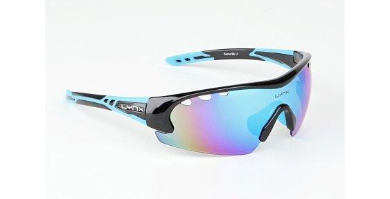 Очки LYNX Detroit shiny metallic black/blue
