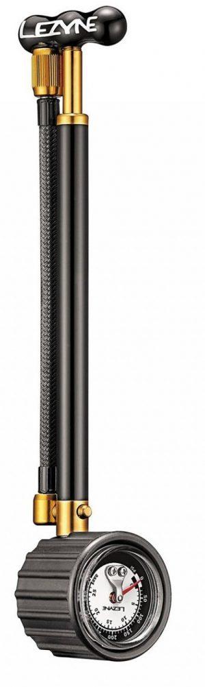 Насос ручной Lezyne Shock Drive, 400psi, черно-золотистый Y13