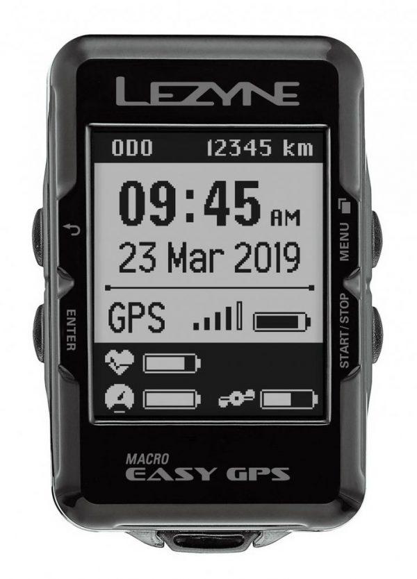 Велокомпьютер Lezyne Macro Easy GPS, черный Y13