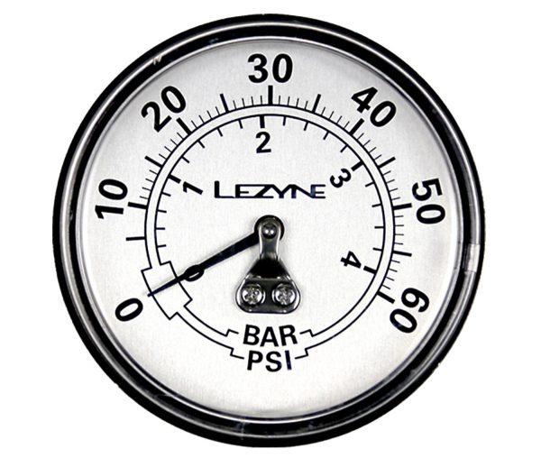 Манометр Lezyne 60 PSI Gauge 2.5″, серебристый Y13