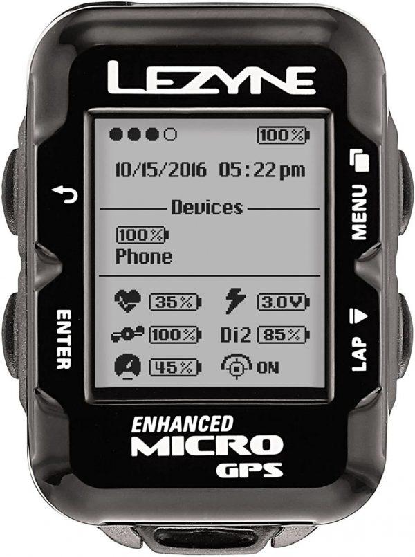 Велокомпьютер Lezyne Micro GPS HRSC Loaded, черный Y11