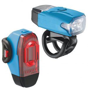Комплект света Lezyne KTV Drive Pair, (200/10 lumen), голубой Y12