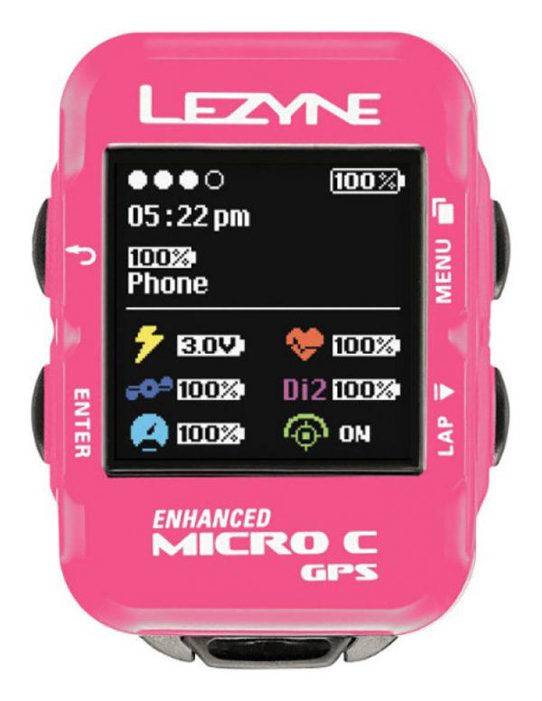 Часы-велокомпьютер Lezyne GPS Watch Color, розовый Y12