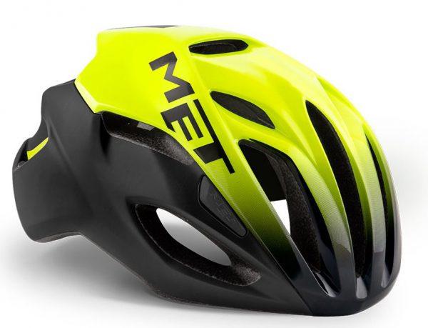 Шлем MET Rivale Black Shaded Safety Yellow | Matt Glossy