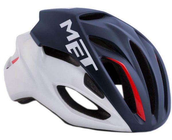 Шлем MET Rivale Deep Blue White/Matt Glossy