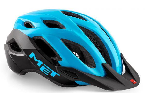 Шлем MET Crossover Cyan Black | Glossy