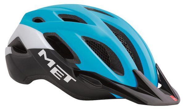 Шлем MET Crossover XL Cyan/Black (matt finished visor)
